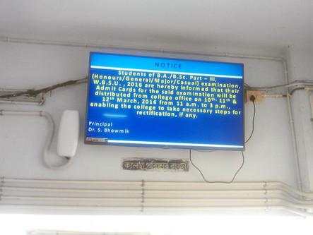 Digital Signage at APC College