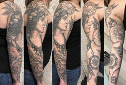 Lady and Peonies Sleeve