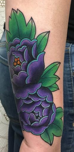 Purple Flower Coverup