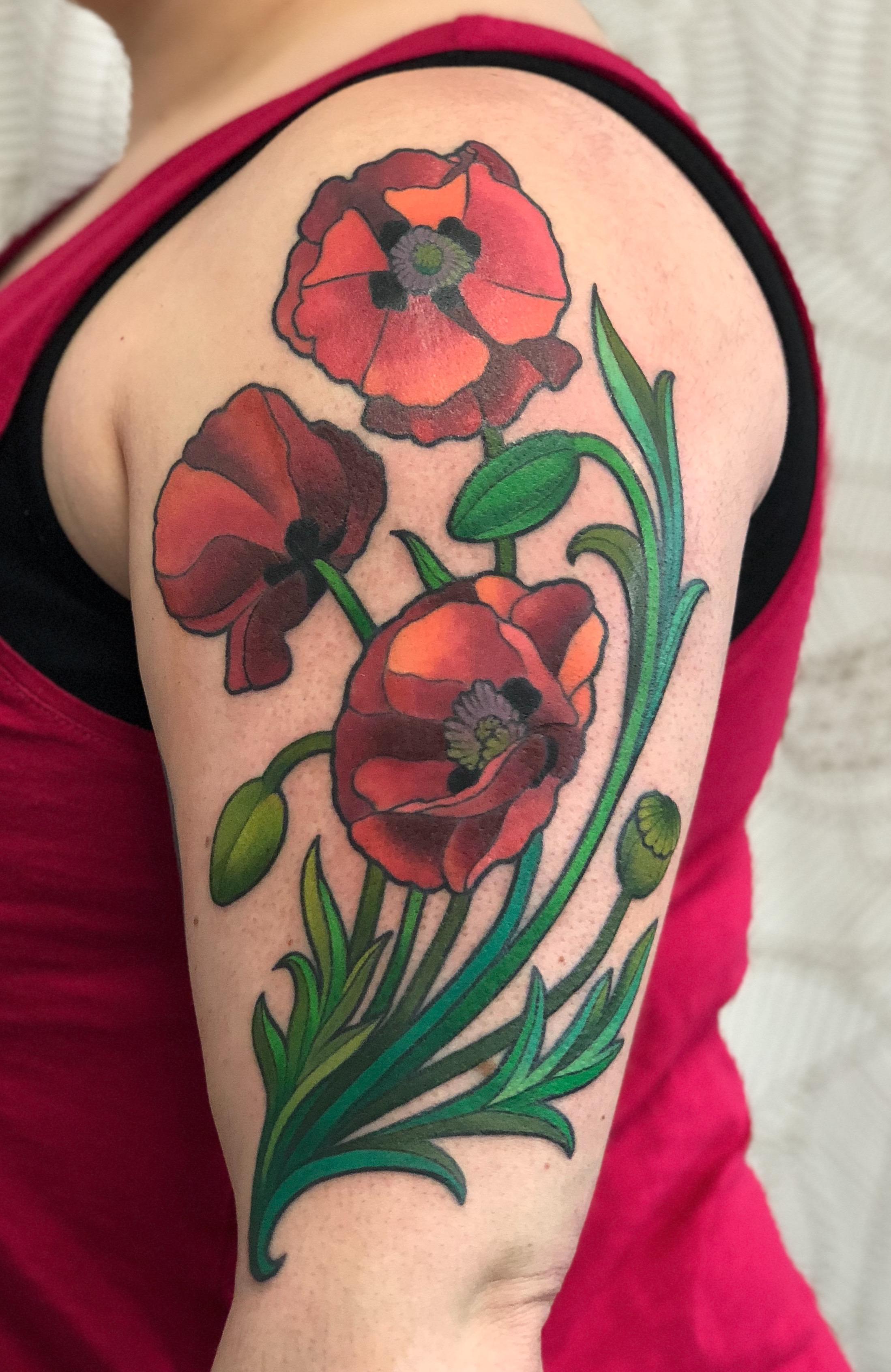 Nouveau Poppies