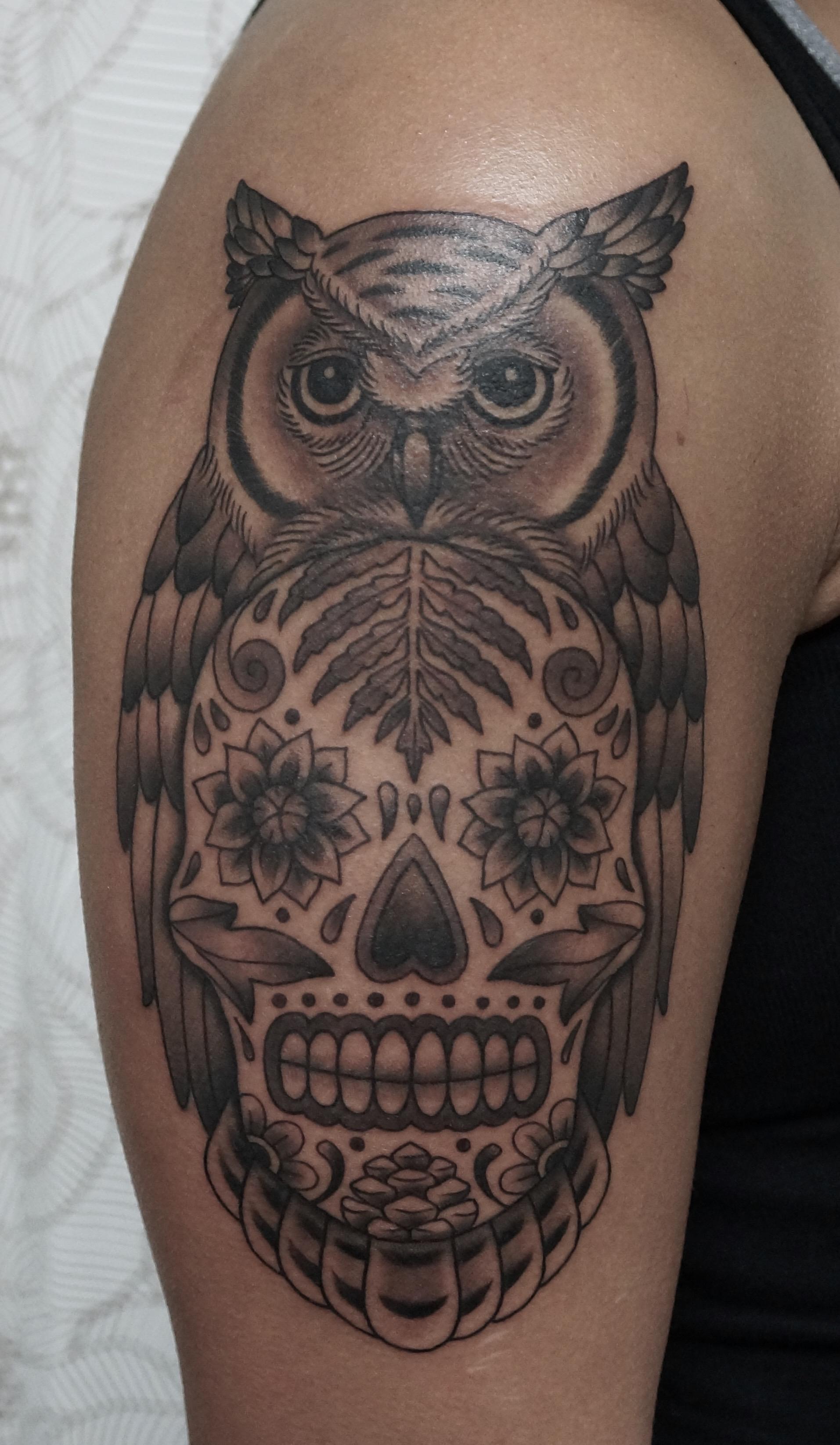 PNW Owl Sugarskull