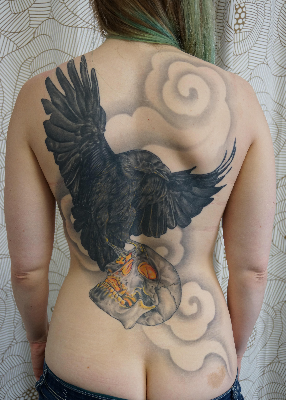 Raven Back Piece