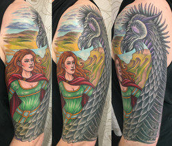 Scotswoman and Dragon