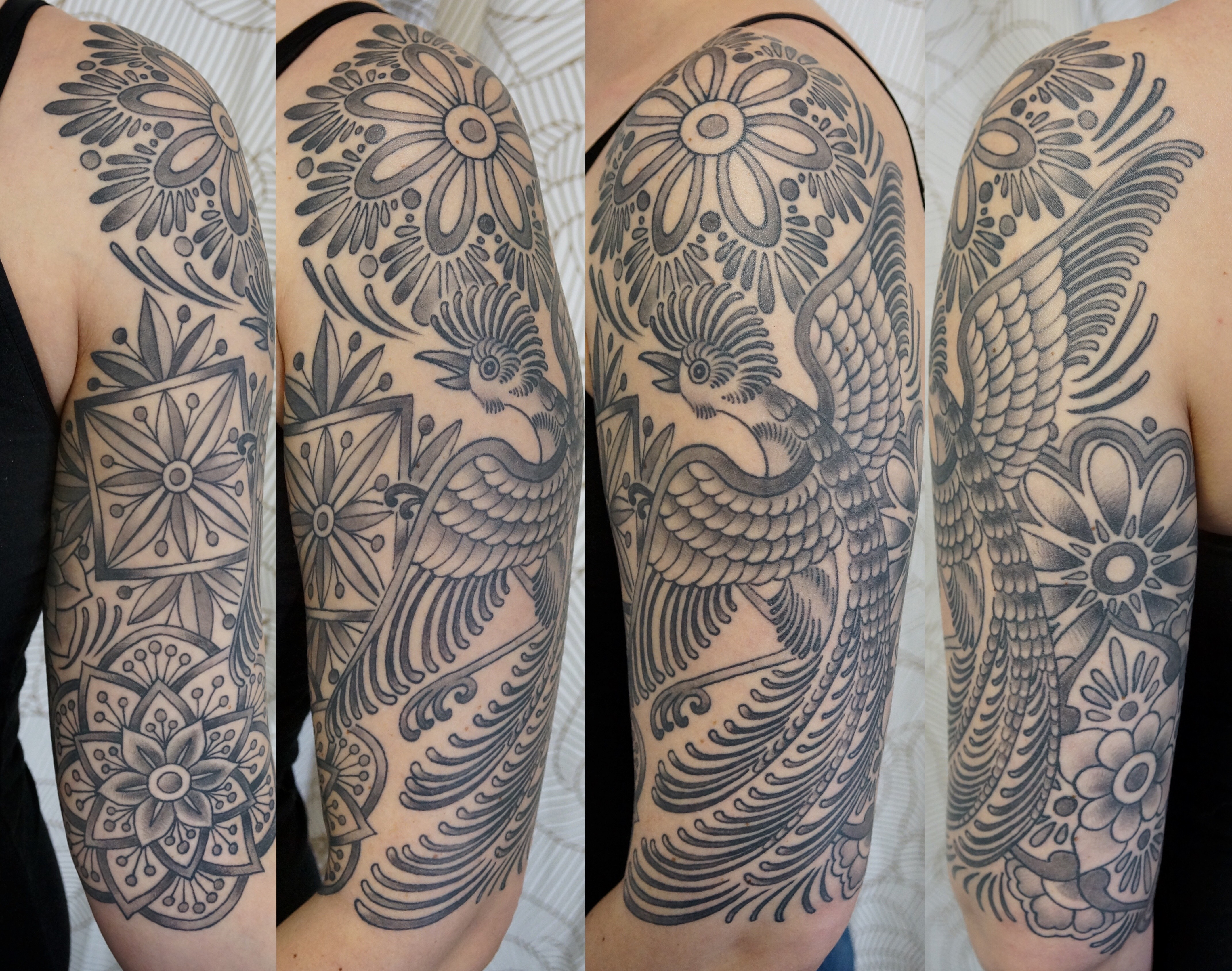 Mexican Tile Half Sleeve