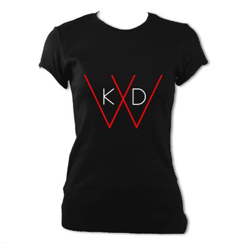 KDW Logo Woman T-shirt [Black/White]