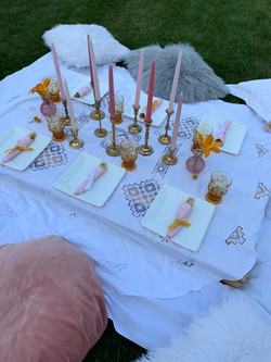 Boho tablescape