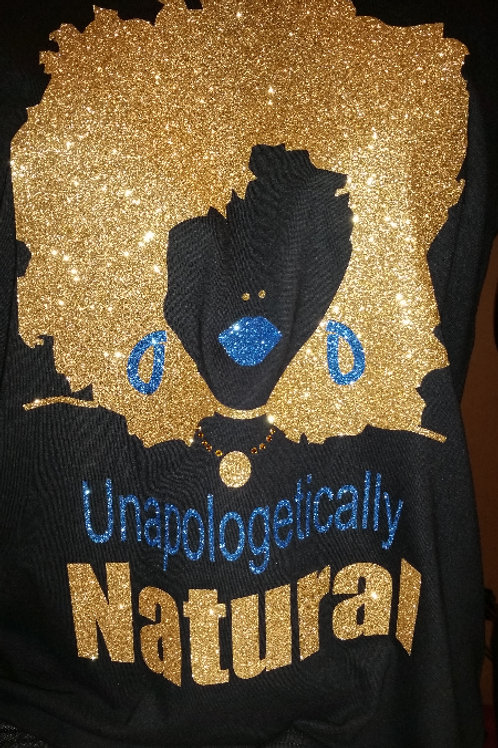 #008 Unapologetically NATURAL -Blue/Gold