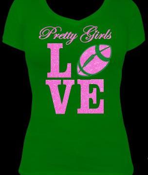 pretty girls love football_glitter stone