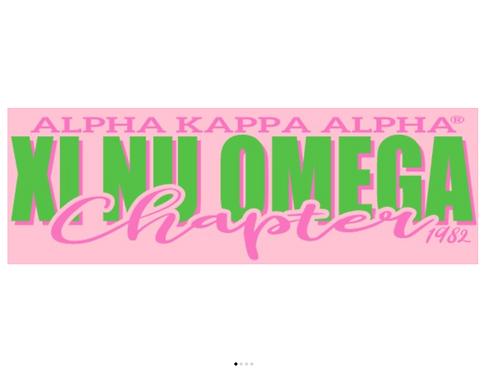 Xi Nu Omega Classic Pink T