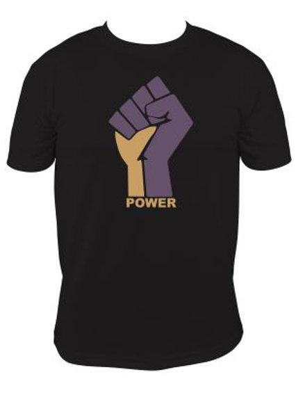 Purple/Gold Raised Hand