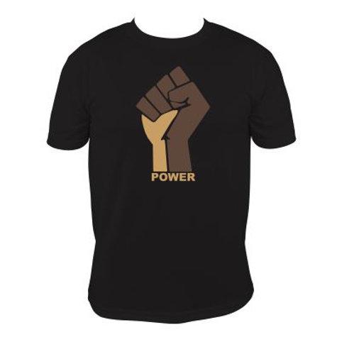 Brown/Gold Raised Hand