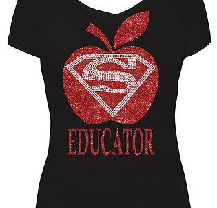Super EDUCATOR - Glitter and Rhinestone