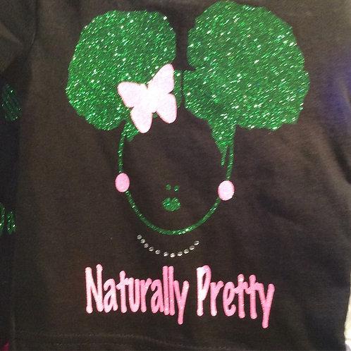 Naturally Pretty GIRLS T Black