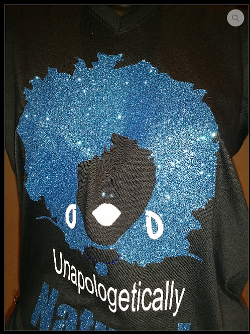 #008 Unapologetically NATURAL -Blue/White