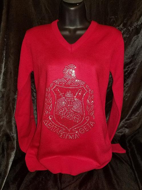 DST Crest BLING Vneck Sweater