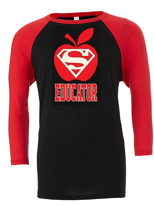 Red/Black Jersey Super Teacher - Matte