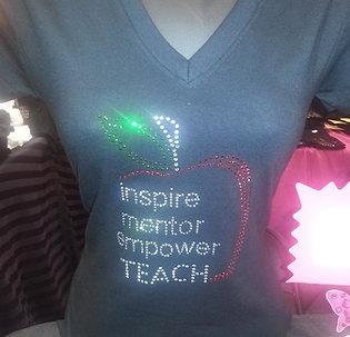 Inspire, Mentor, Empower, TEACH - Rhinestone
