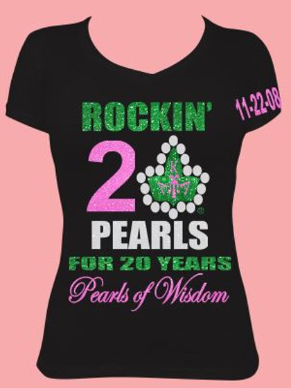 Pearls of Wisdom 20 Years (Ladies Fitted)