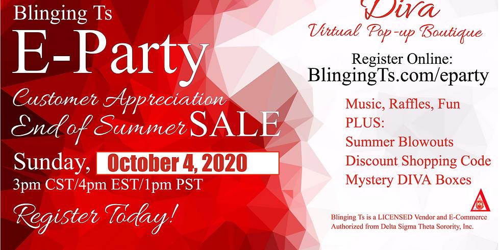 Blinging Ts Diva Customer Appreciation E-Party