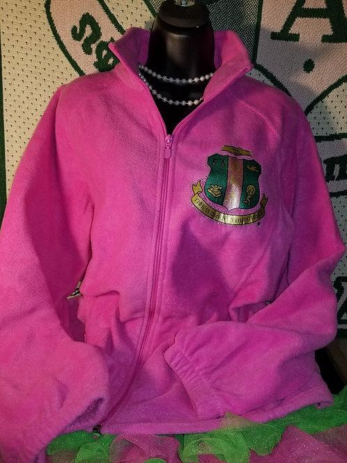 Pink FLEECE Jacket - 1908 on Back