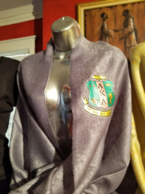 Silver Pashmina (with AKA Crest Patch)