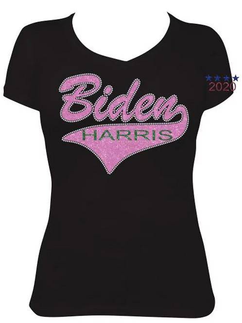 Biden- Harris PINK Swoop (Black or White T)