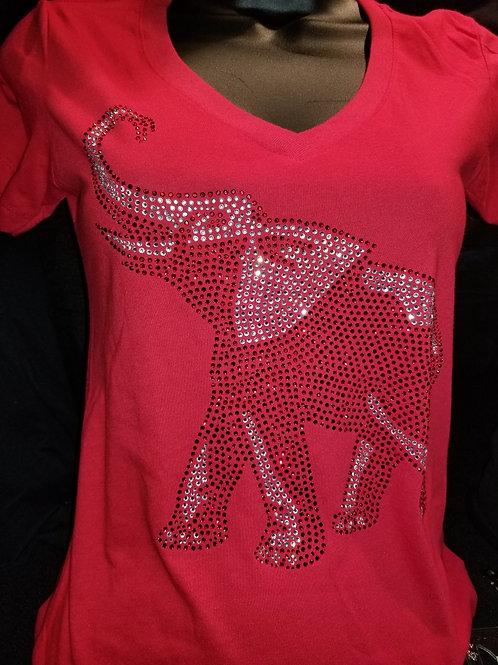 Bling Elephant on Tshirt