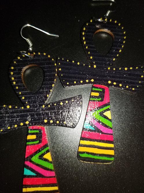Ankh Earrings - (Wooden)
