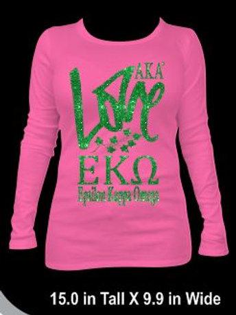 LOVE- Epsilon Kappa Omega Sweatshirt
