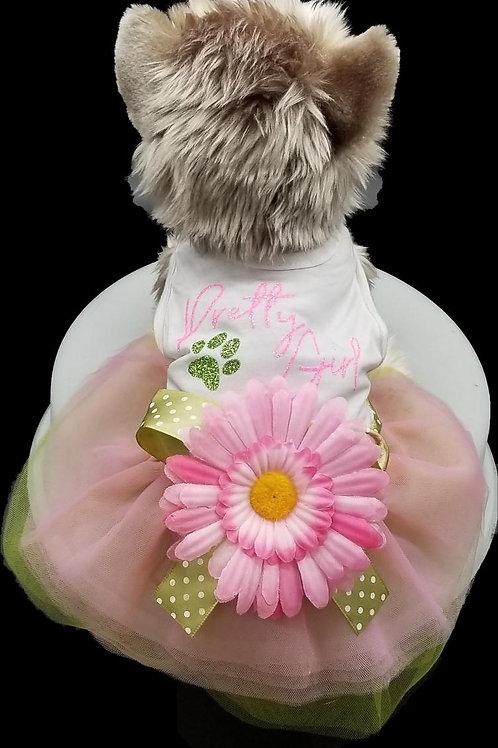Pretty Girl Doggie DRESS/Flower