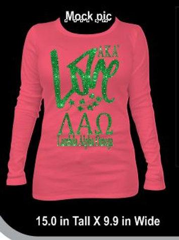 LOVE- Lambda Alpha Omega Sweatshirt