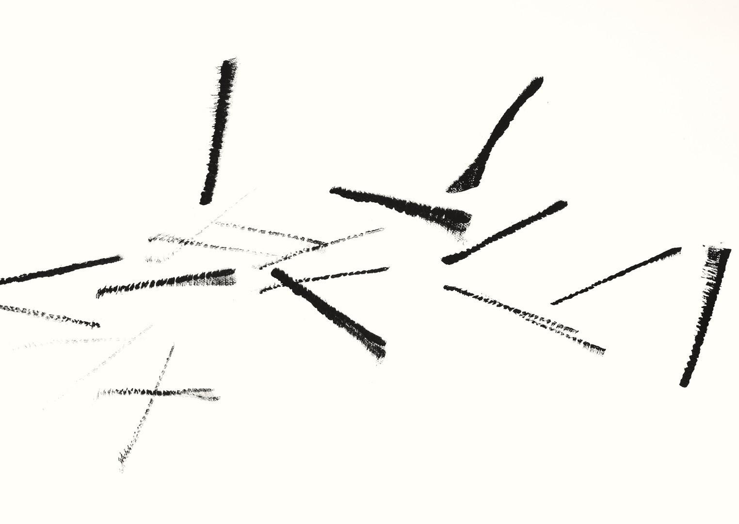 SFB2.3, Acryl auf Aquarellpapier, 105 x 75 cm, 2018