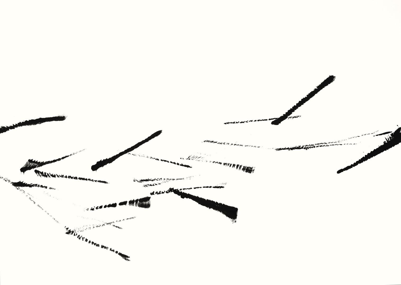 SFB2.4, Acryl auf Aquarellpapier, 105 x 75 cm, 2018