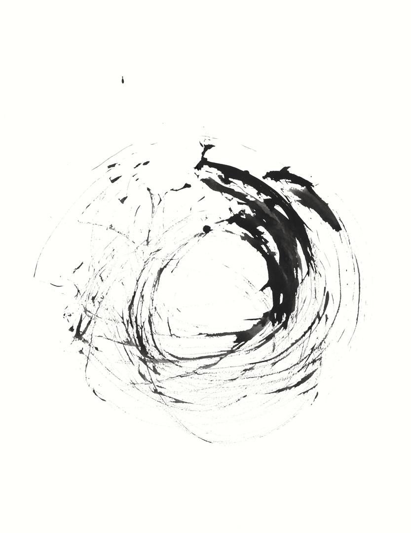 SCB7, Tusche auf Aquarellpapier, 65 x 50 cm, 2014