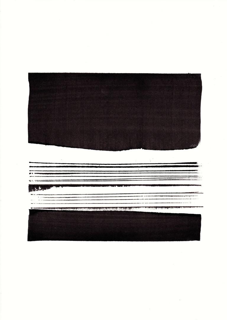 SRB1.2, Tusche auf Aquarellpapier, 30 x 21 cm, 2016