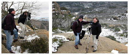 John teaching a client during a Winter Photography Workshop