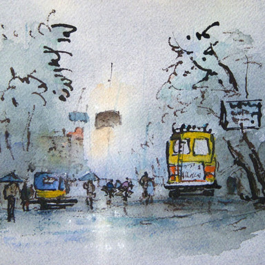 Rainy Day, Trivandrum, Kerala, India