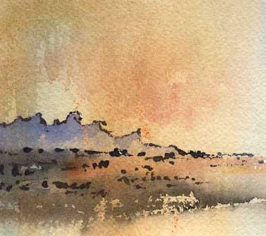 Olgas Viewed from the Top of Uluru, Northern Territory, Australia