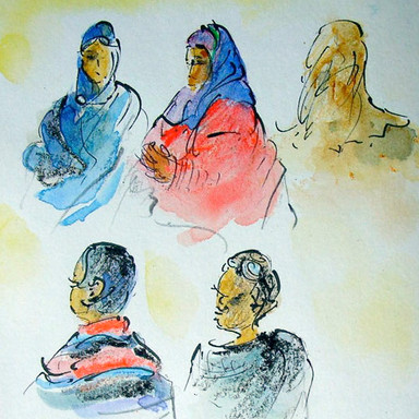 People at the Waiting Room, Tunis Train Station, Tunisia