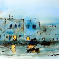 Bizert by Night, Tunisia