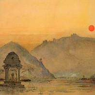 Sunset from Ummaid Bagh, Bundi, Rajasthan, India