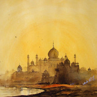 Taj Emerging from the Smog, Agra, Uttar Pradesh, India