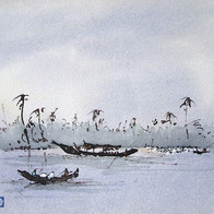 Inland Waterway, Alleppey, Kerala, India