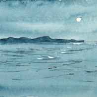 Moon Over the Southern Ocean, Esperance, WA, Australia