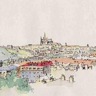 Praha from Vyšehrad,Czech Republic