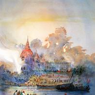 Transience, Manikarnika Ghat, Varanasi, Uttar Pradesh, India
