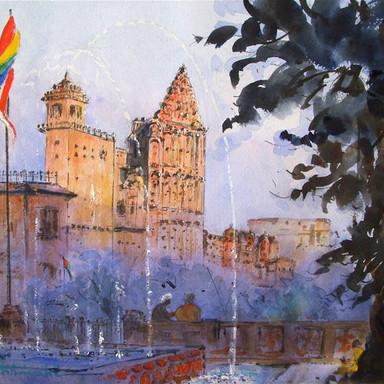 Partial View, Hawa Mahal, Jaipur, Rajasthan, India