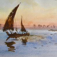 Felucca on the Nile, Egypt