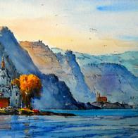 Pfalzgrafenstein Castle on the Rhine River, Germany