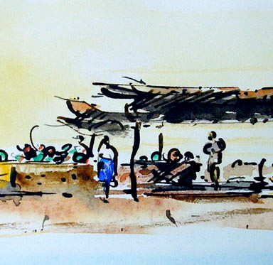 Morning Market, Zannouch, Tunisia
